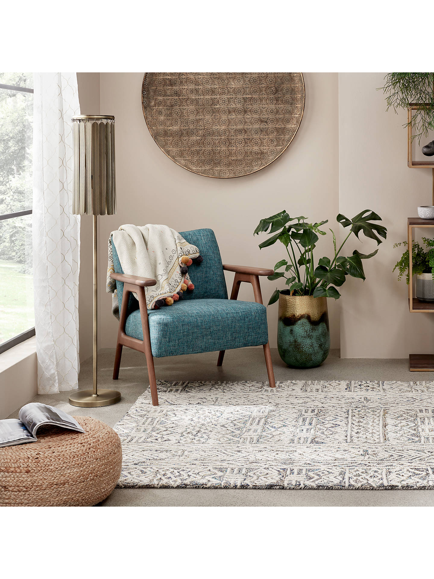 BuyJohn Lewis & Partners Chennai Diamonds Rug, Natural, L180 x W120cm Online at johnlewis.com