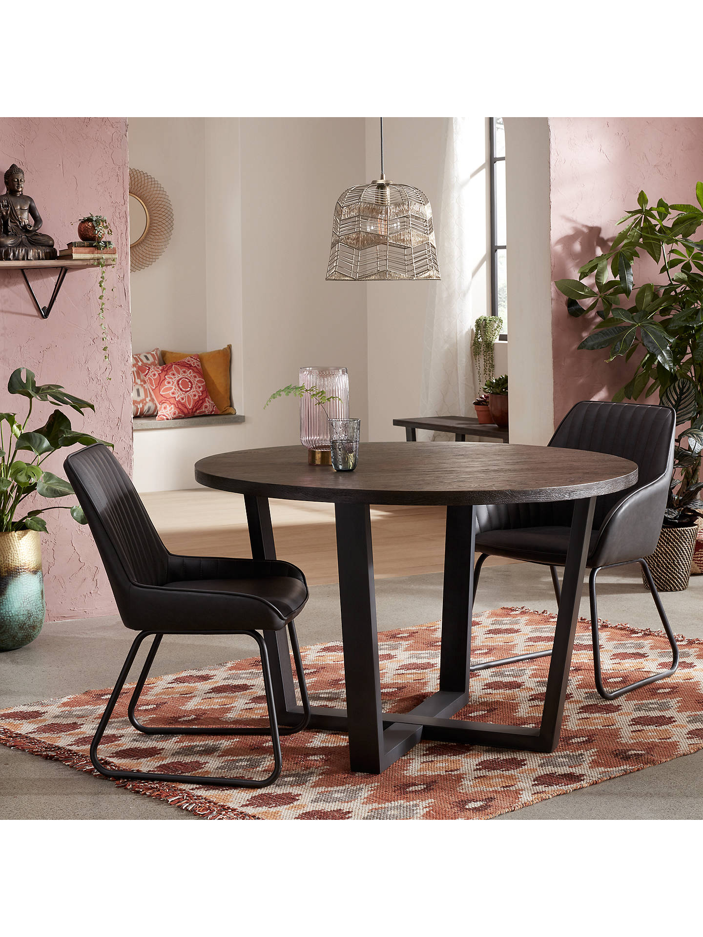 Buy John Lewis & Partners Brooks Dining Armchairs, Set of 2, Charcoal Online at johnlewis.com
