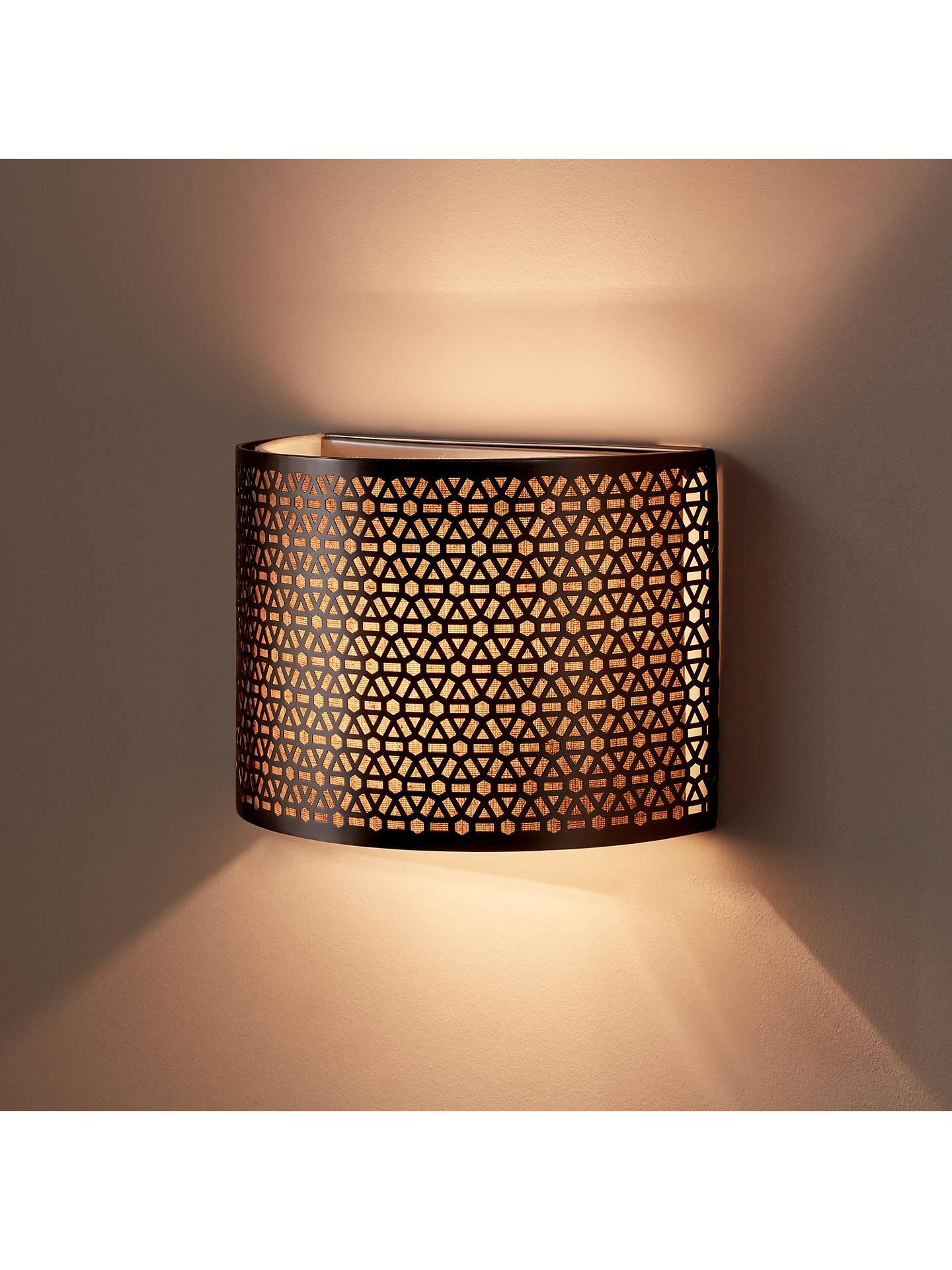 John Lewis & Partners Meena Wall Light, Steel