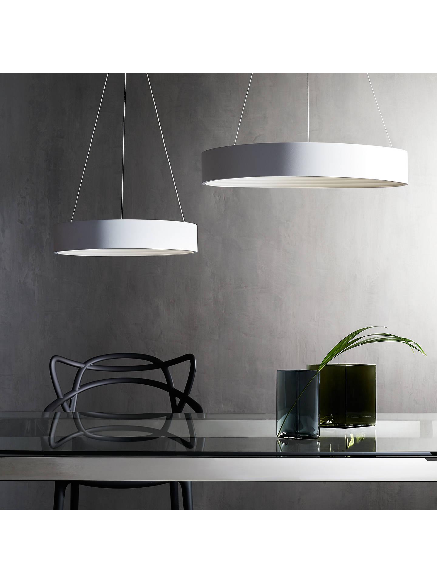 John Lewis & Partners Leif LED Ribbed Hoop Ceiling Light, White