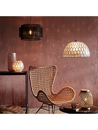 John Lewis & Partners Ampara Capiz Lighting Collection