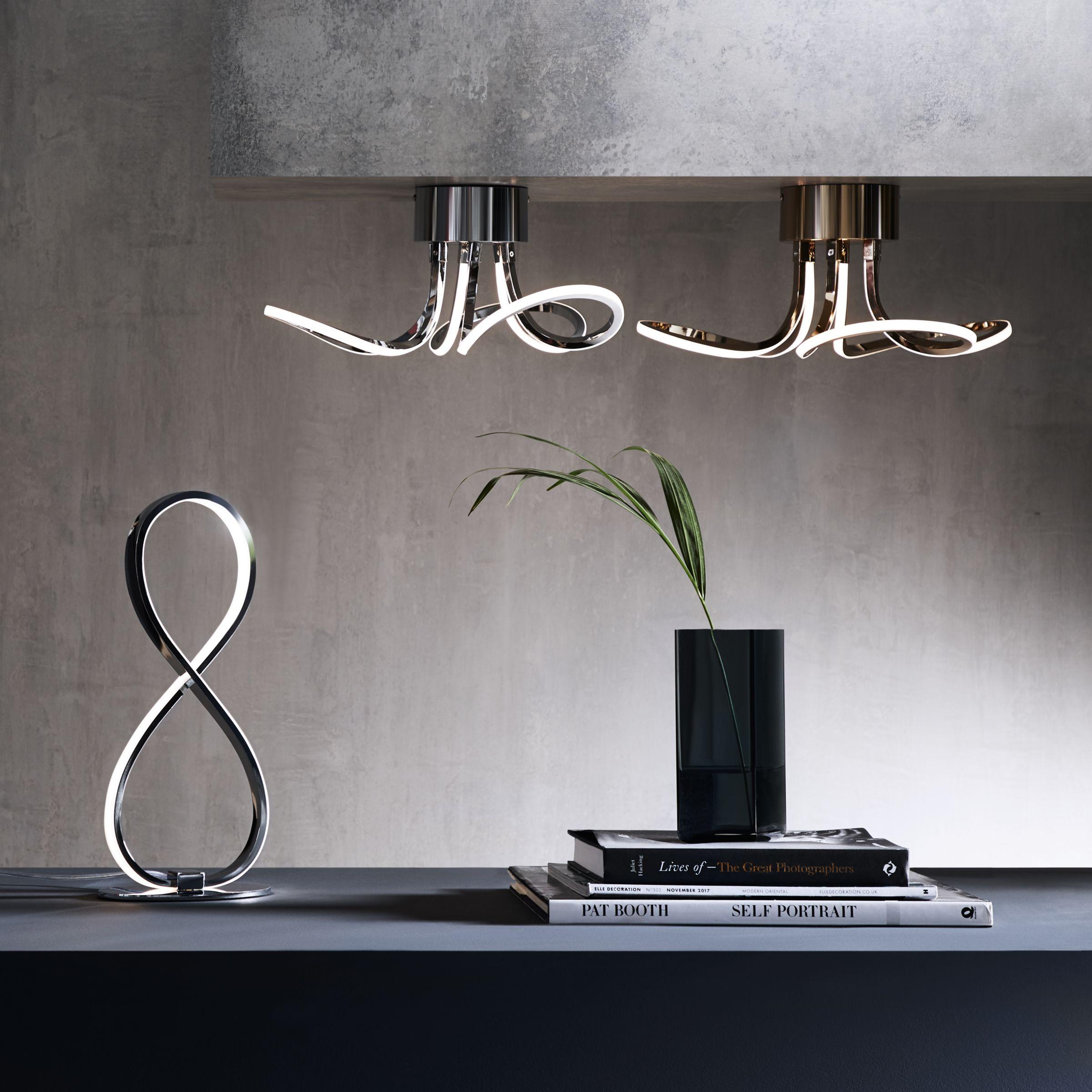 Picture of: John Lewis Partners Ora Led Table Lamp Chrome At John Lewis Partners