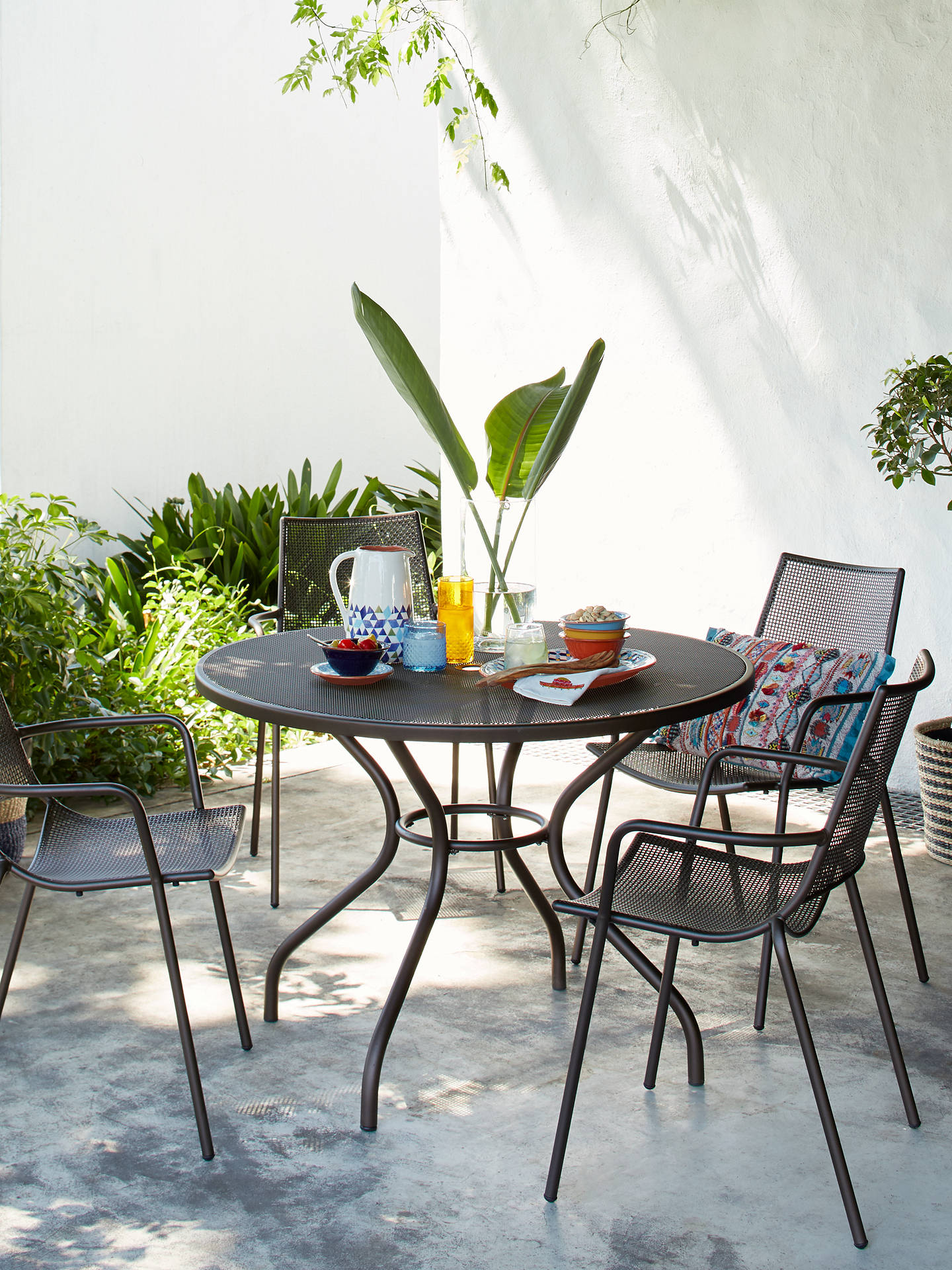 John Lewis & Partners Ala Mesh 8-Seater Garden Dining Table and