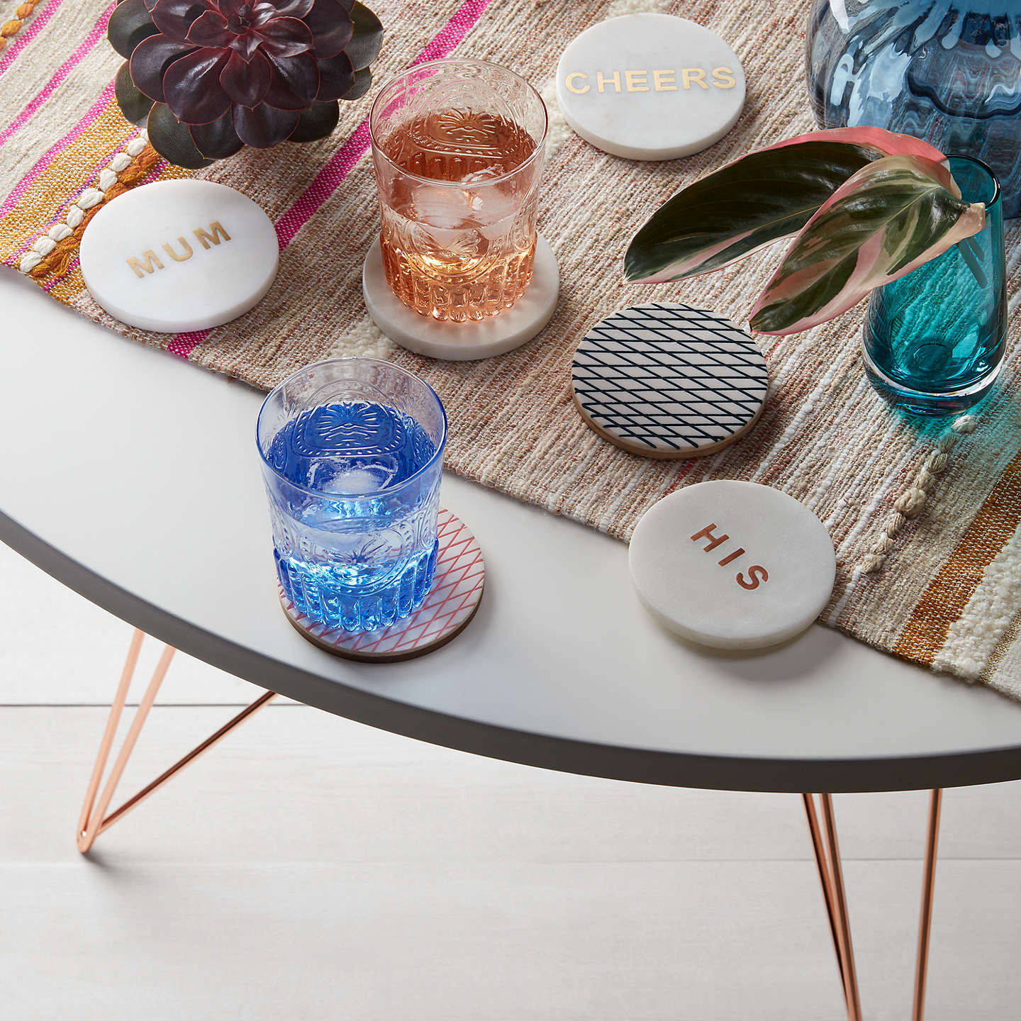 BuyJohn Lewis 'His' Marble Coaster Online at johnlewis.com