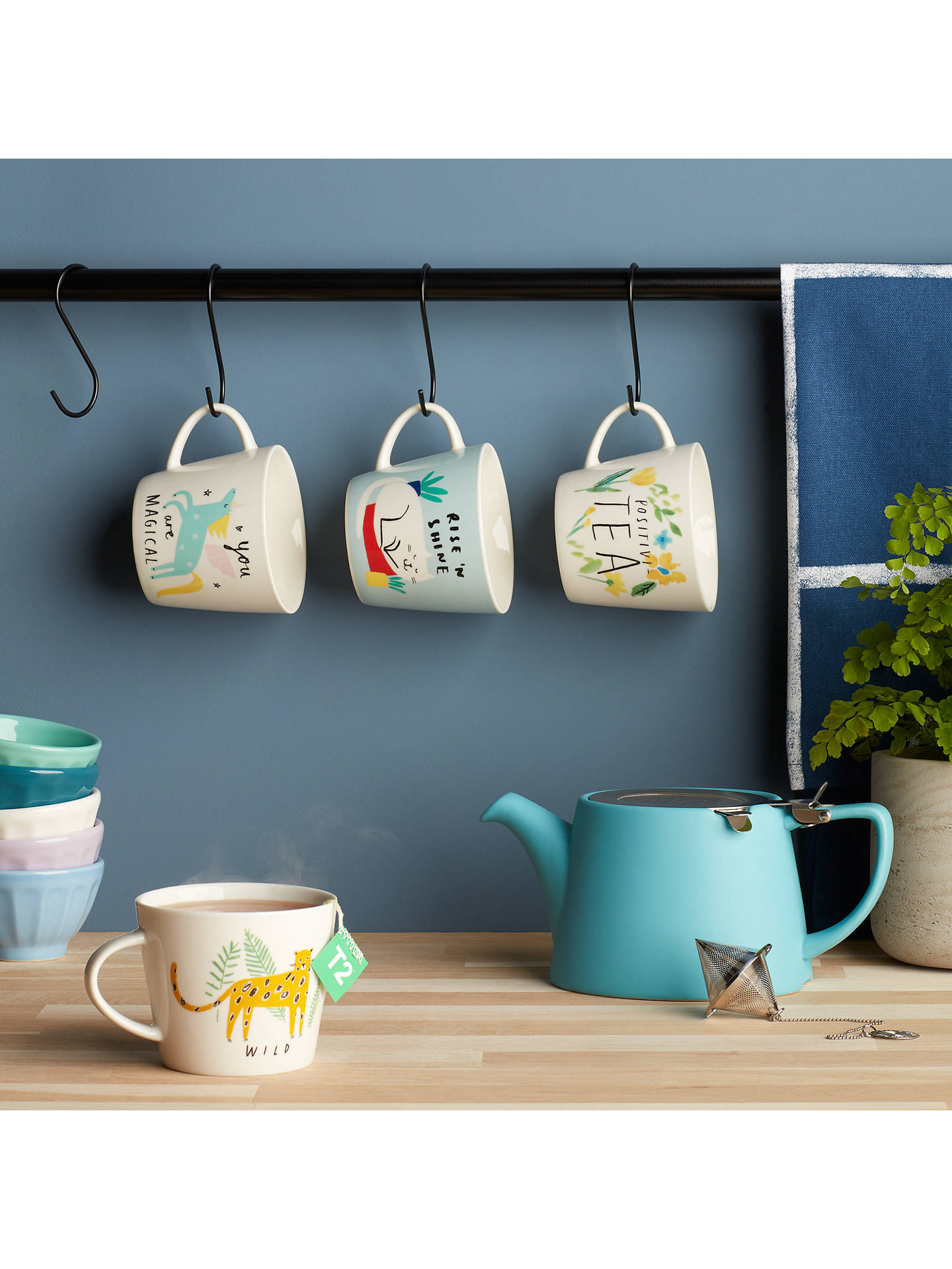 John Lewis & Partners Positivi-Tea Mug, White/Multi, 300ml at John ...