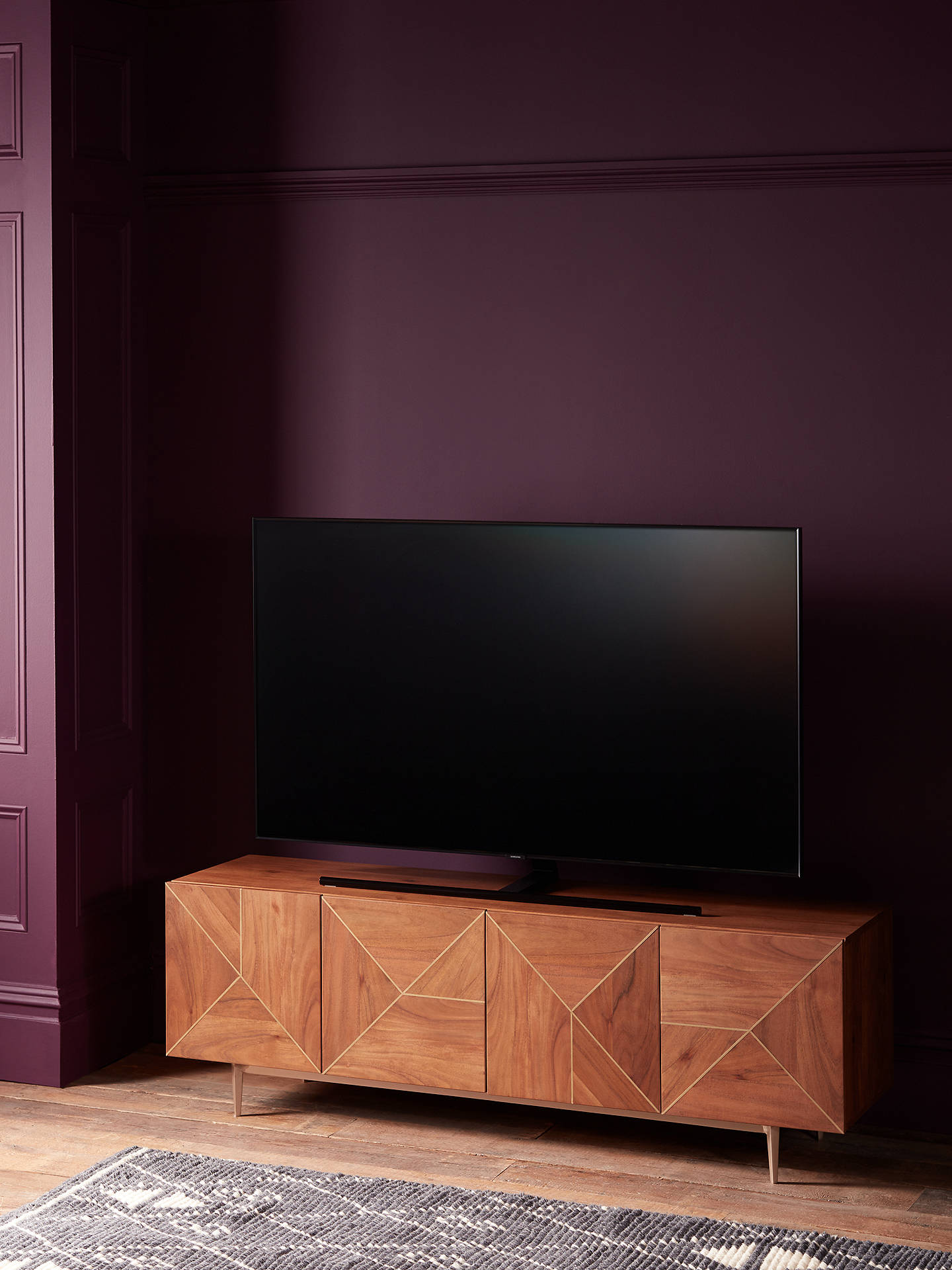 "Buy John Lewis & Partners + Swoon Mendel TV Stand Sideboard for TVs up to 65"", Brown Online at johnlewis.com"