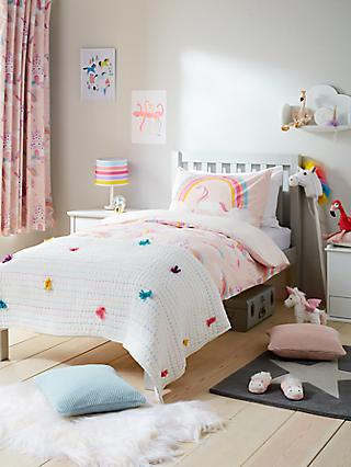 5a590477c5c little home at John Lewis Magical Unicorn Reversible Duvet Cover and Pillowcase  Set