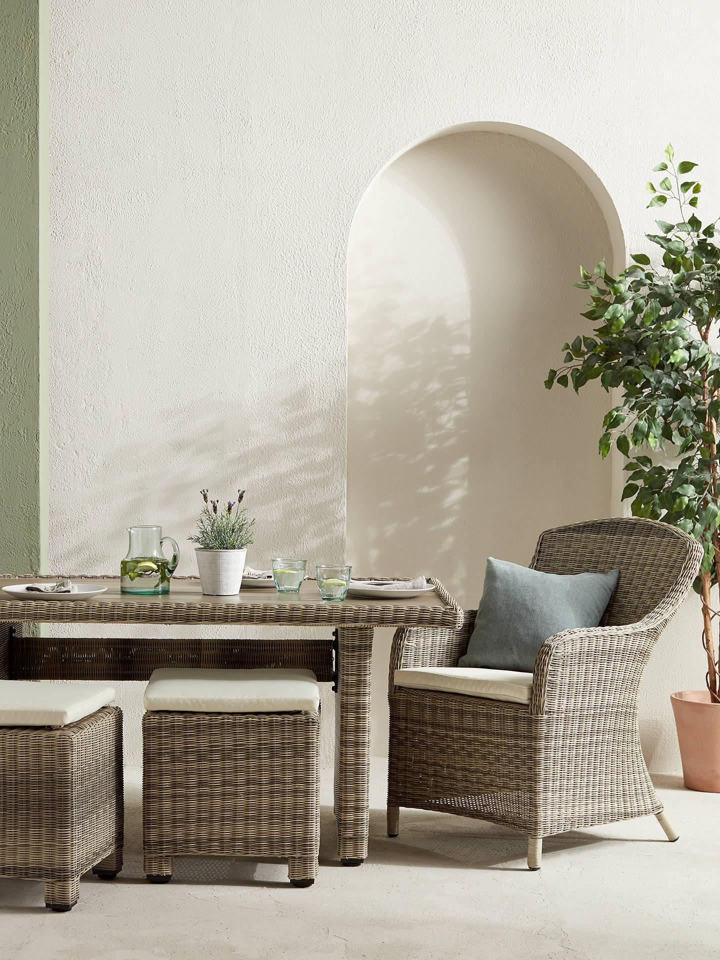 Buyjohn lewis partners dante deluxe outdoor dining armchair set of 2 natural online