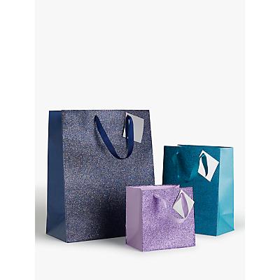 Image of John Lewis & Partners Glitter Gift Bag