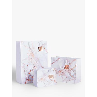 Image of John Lewis & Partners Pastel Marble Gift Bag