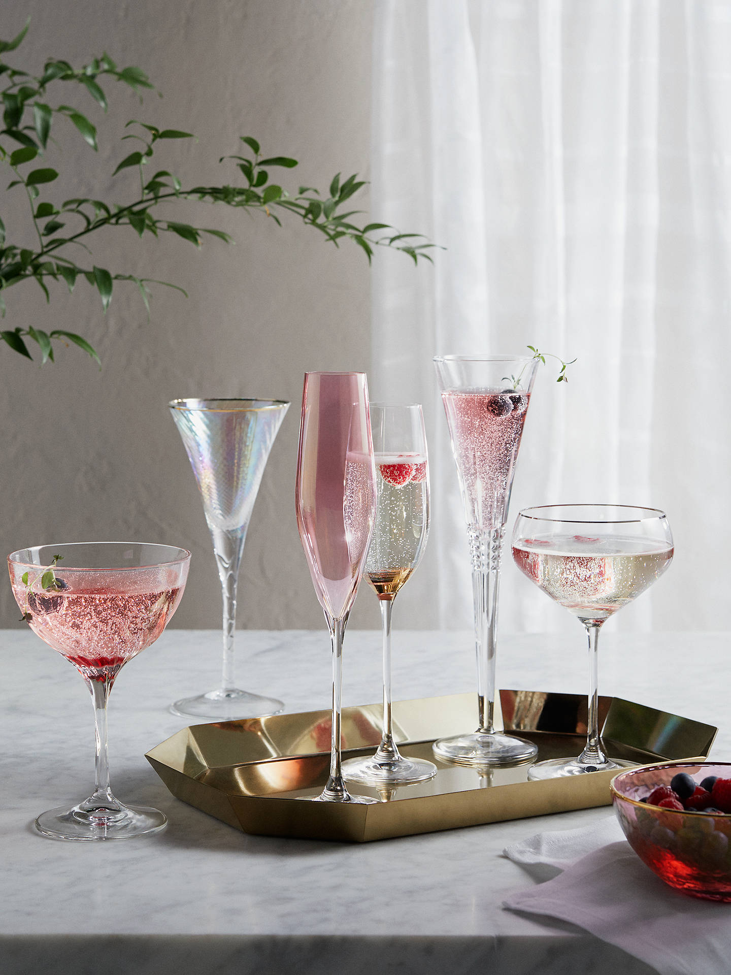 Buy John Lewis & Partners Swirl Stem Champagne Flute, 240ml, Clear/Gold Online at johnlewis.com