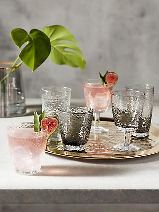 John Lewis & Partners Hammered Glassware