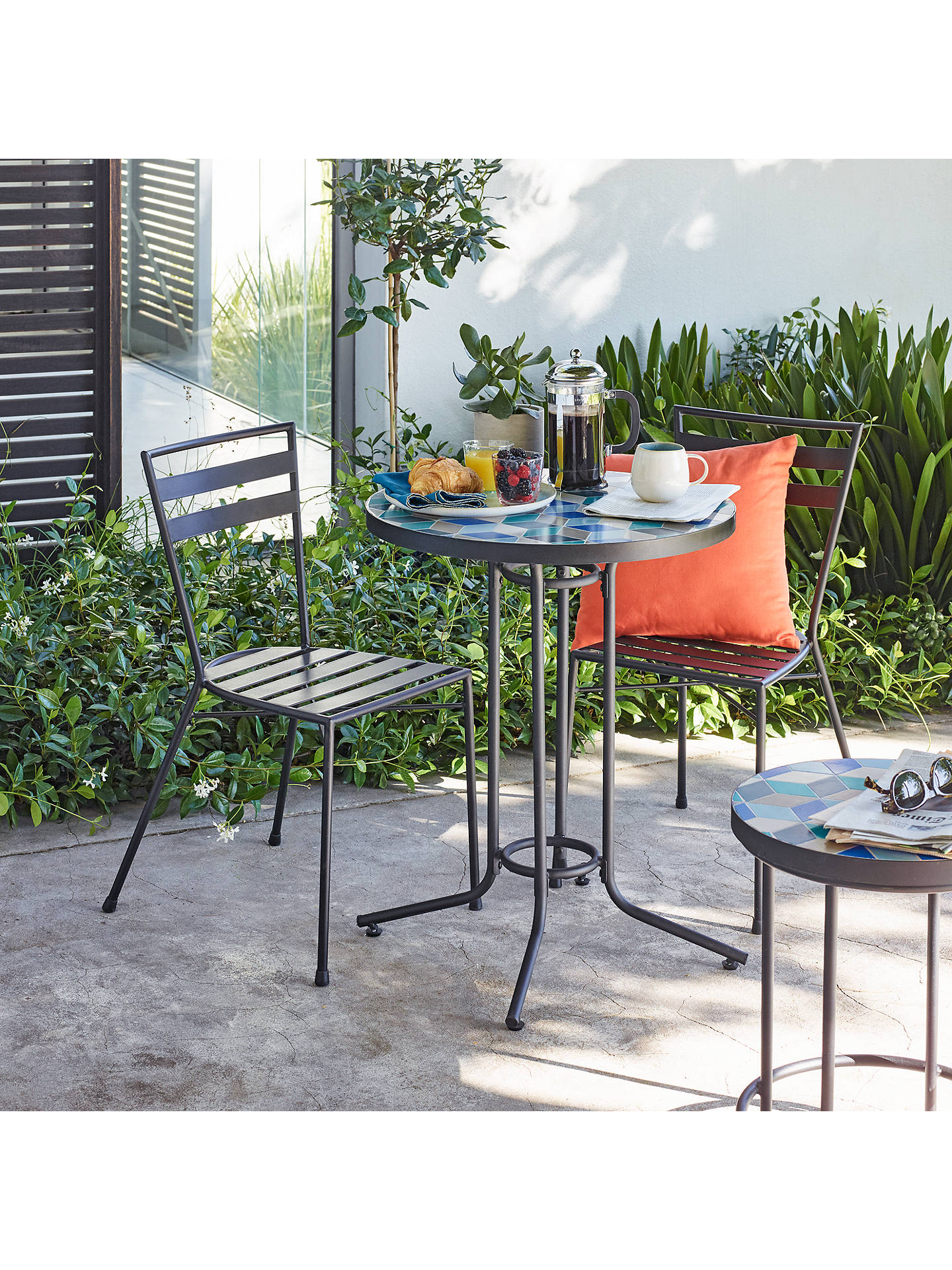 Buy john lewis partners suri 2 seater mosaic bistro garden table and chairs set