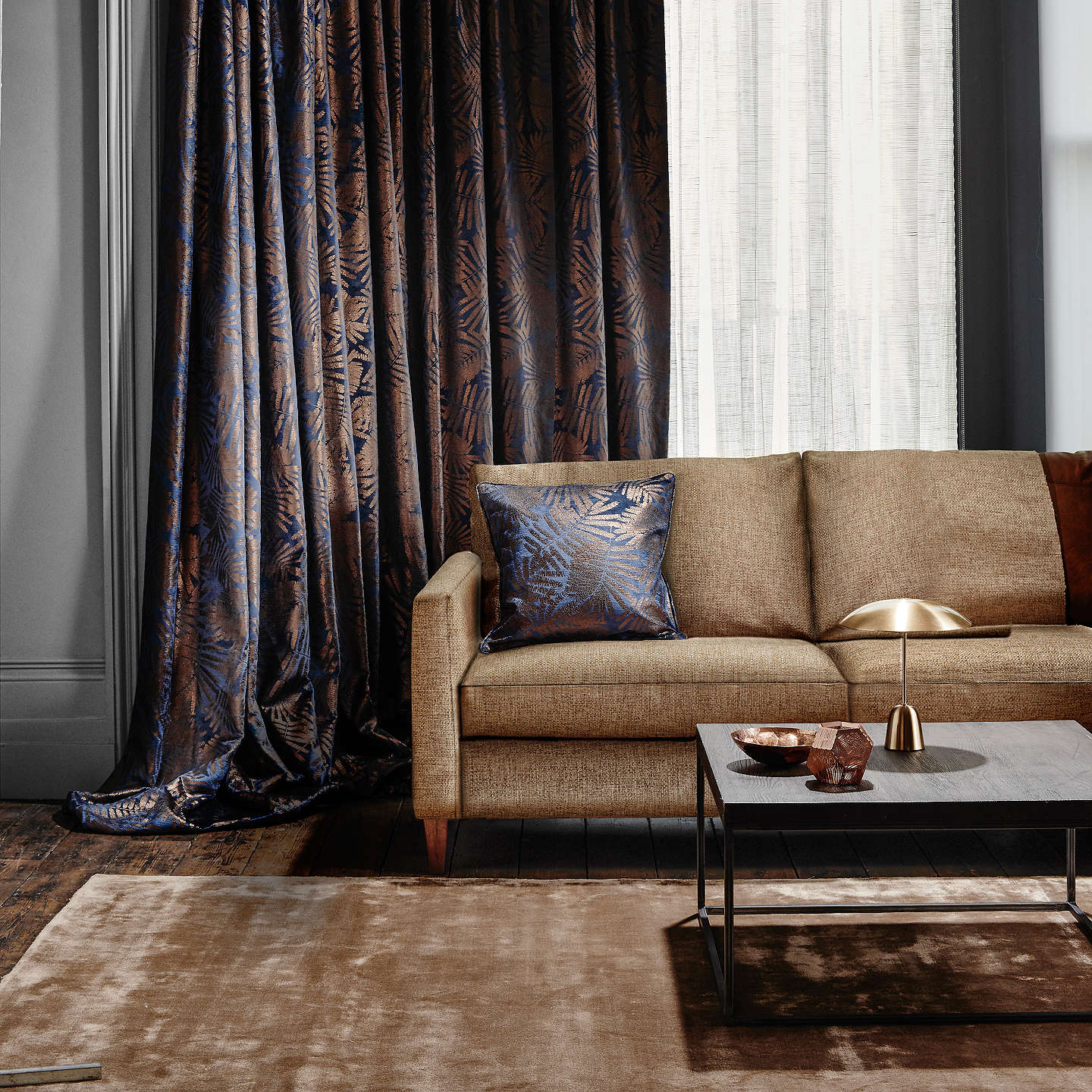BuyDesign Project by John Lewis No.053 LED Table Lamp, Satin Brass Online at johnlewis.com