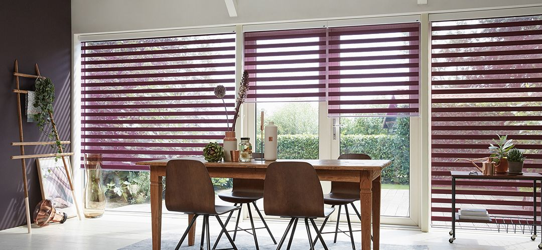 Facette, silhouette and Pirouette blinds from John Lewis