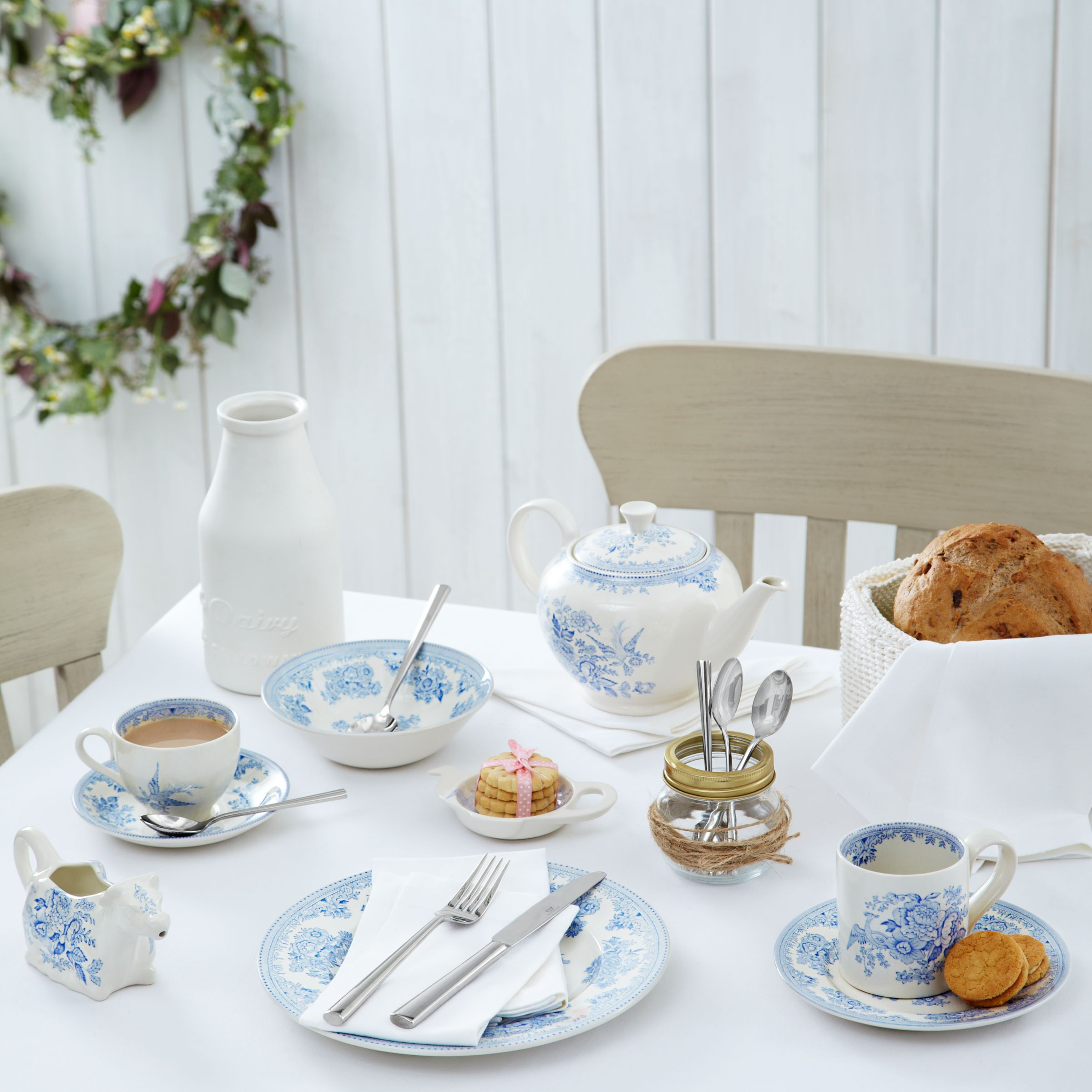 House By John Lewis Oval Tablecloth Lily At John Lewis Partners