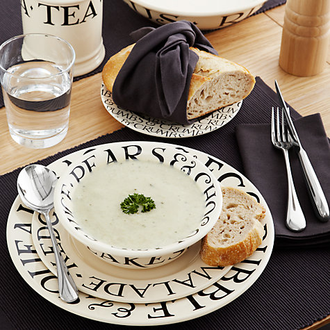 Buy Emma Bridgewater Black Toast Plate, Black/Natural, Dia.21.5cm Online at johnlewis.com