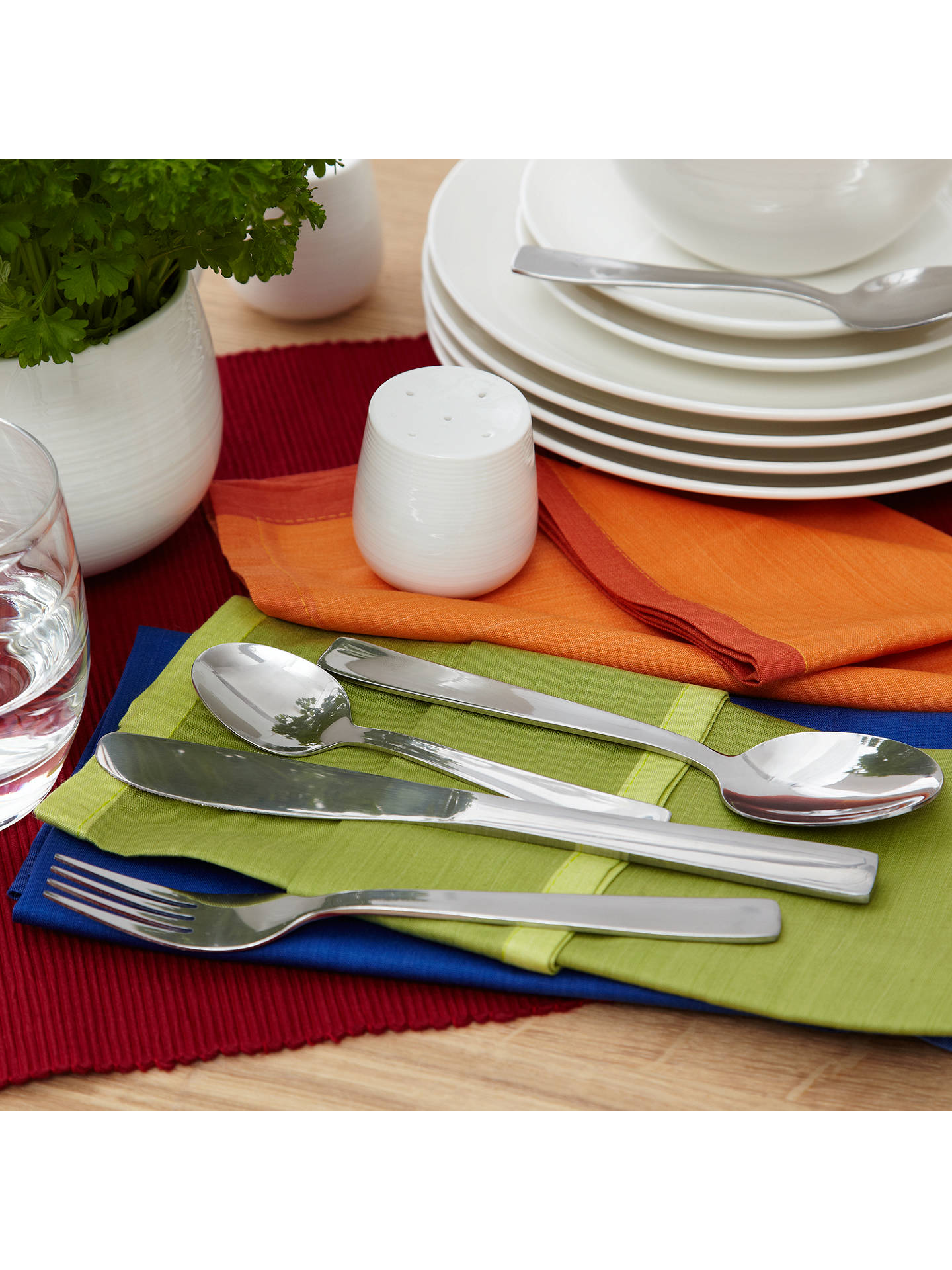 Buy John Lewis & Partners Square Cutlery Set, 16 Piece Online at johnlewis.com