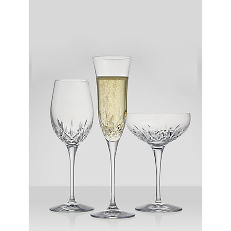 Buy Waterford Crystal Lismore Essence Cut Lead Crystal Champagne Saucers, Set of 2 Online at johnlewis.com