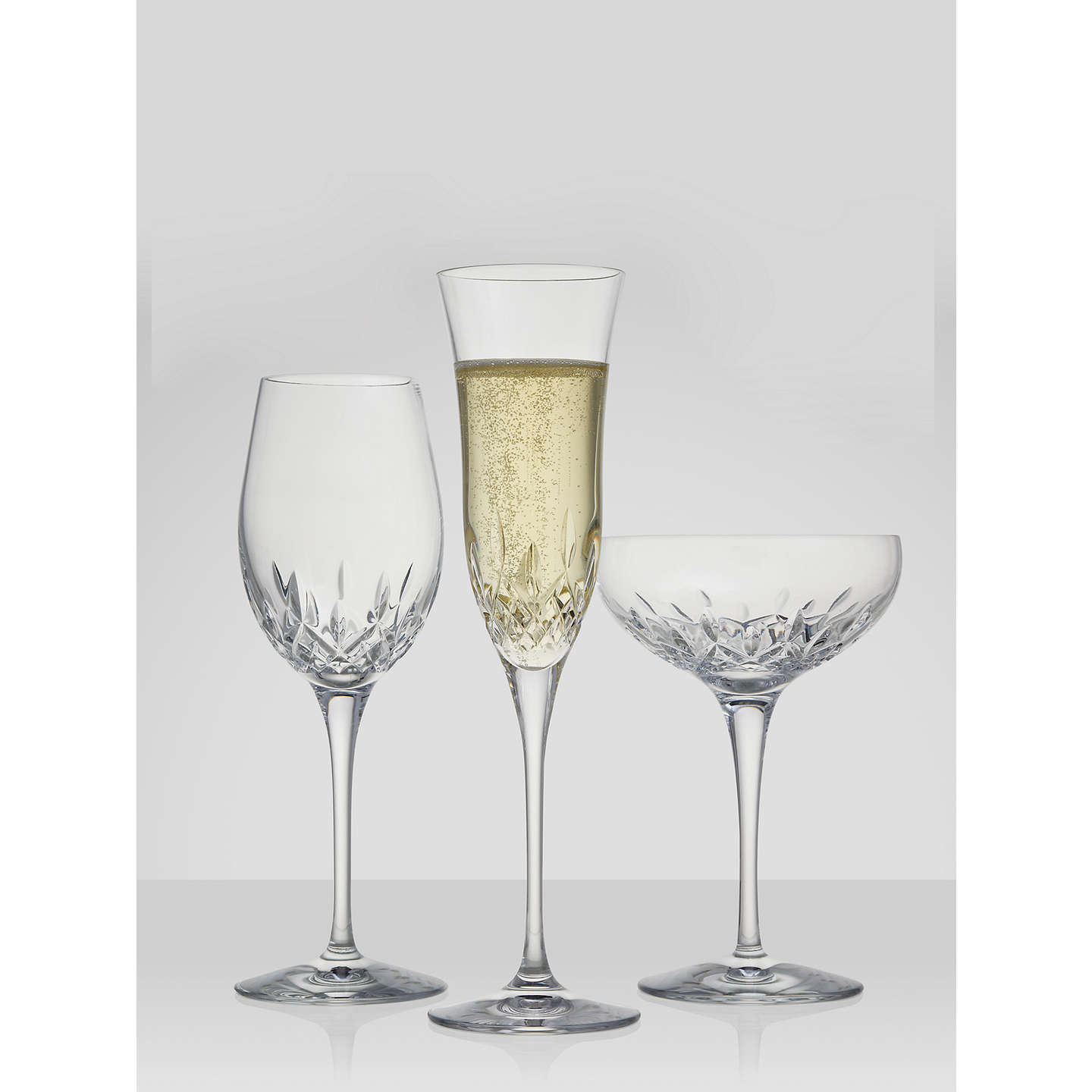 BuyWaterford Crystal Lismore Essence Cut Lead Crystal Champagne Flutes, Set of 2 Online at johnlewis.com