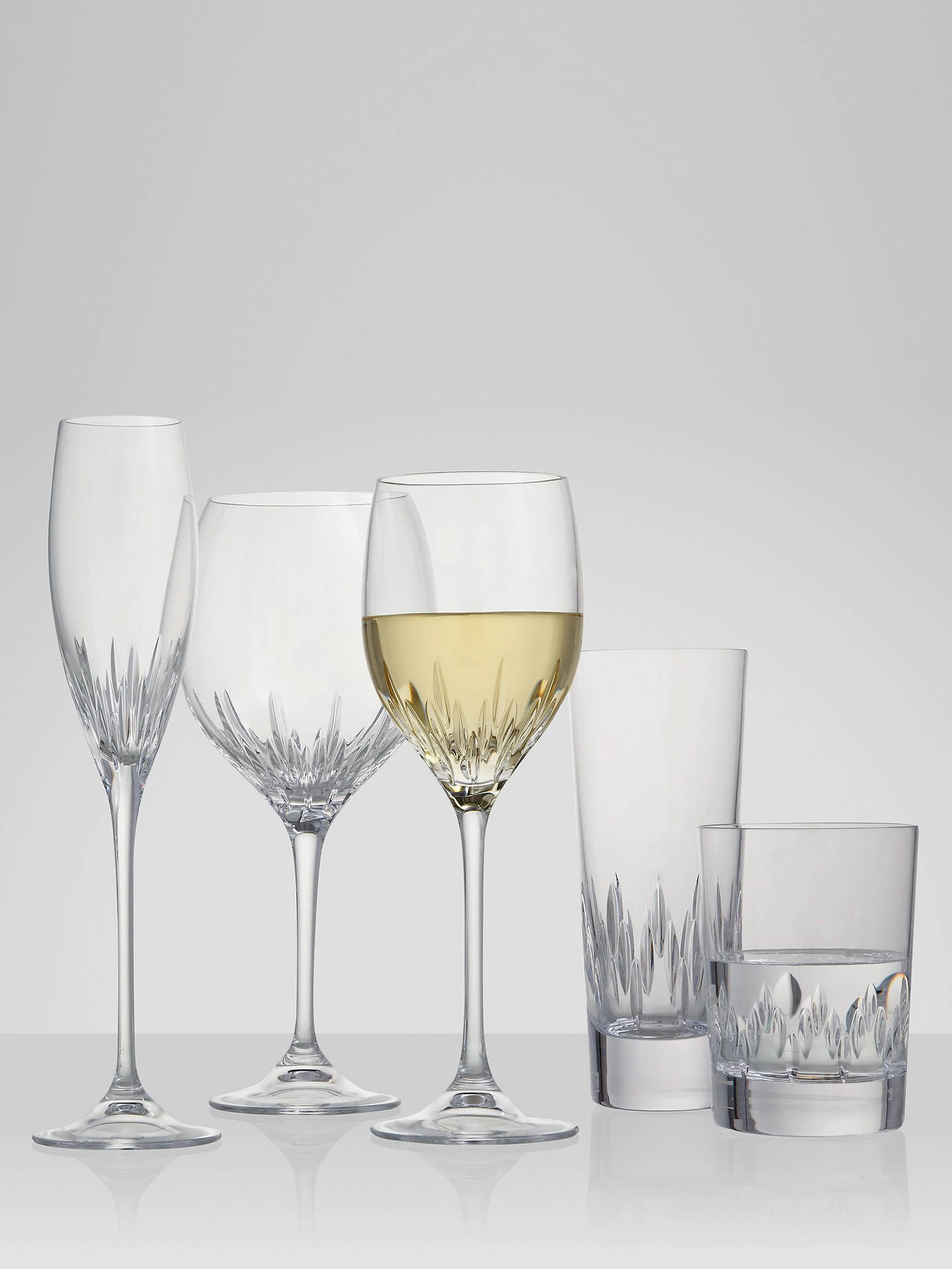 BuyVera Wang for Wedgwood Cut Lead Crystal Duchesse Wine Glasses, Set of 2 Online at johnlewis.com