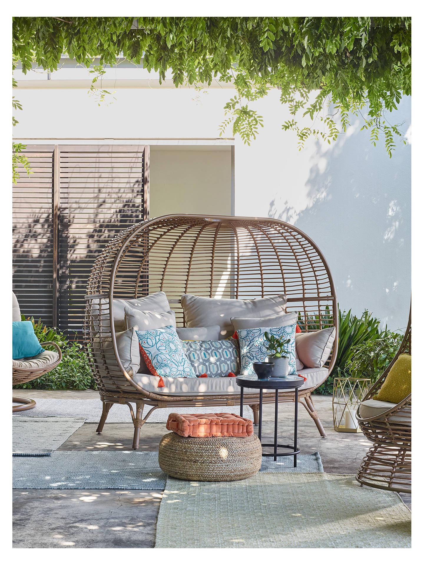 Buy john lewis partners cabana 2 seater garden sofa pod natural online at johnlewis