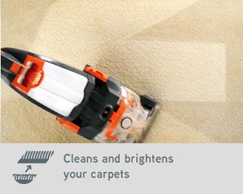 Cleans and brightens your carpets