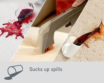 Sucks up spills