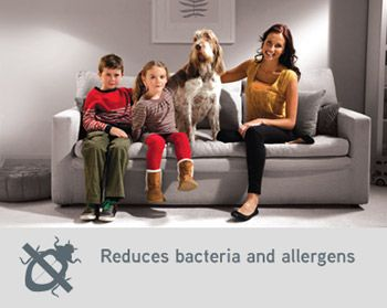 Reduces bacteria and allergens