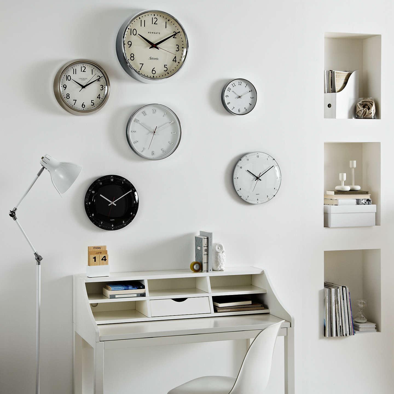 John Lewis Shine Wall Clock, Dia.20.5cm, Silver at John Lewis