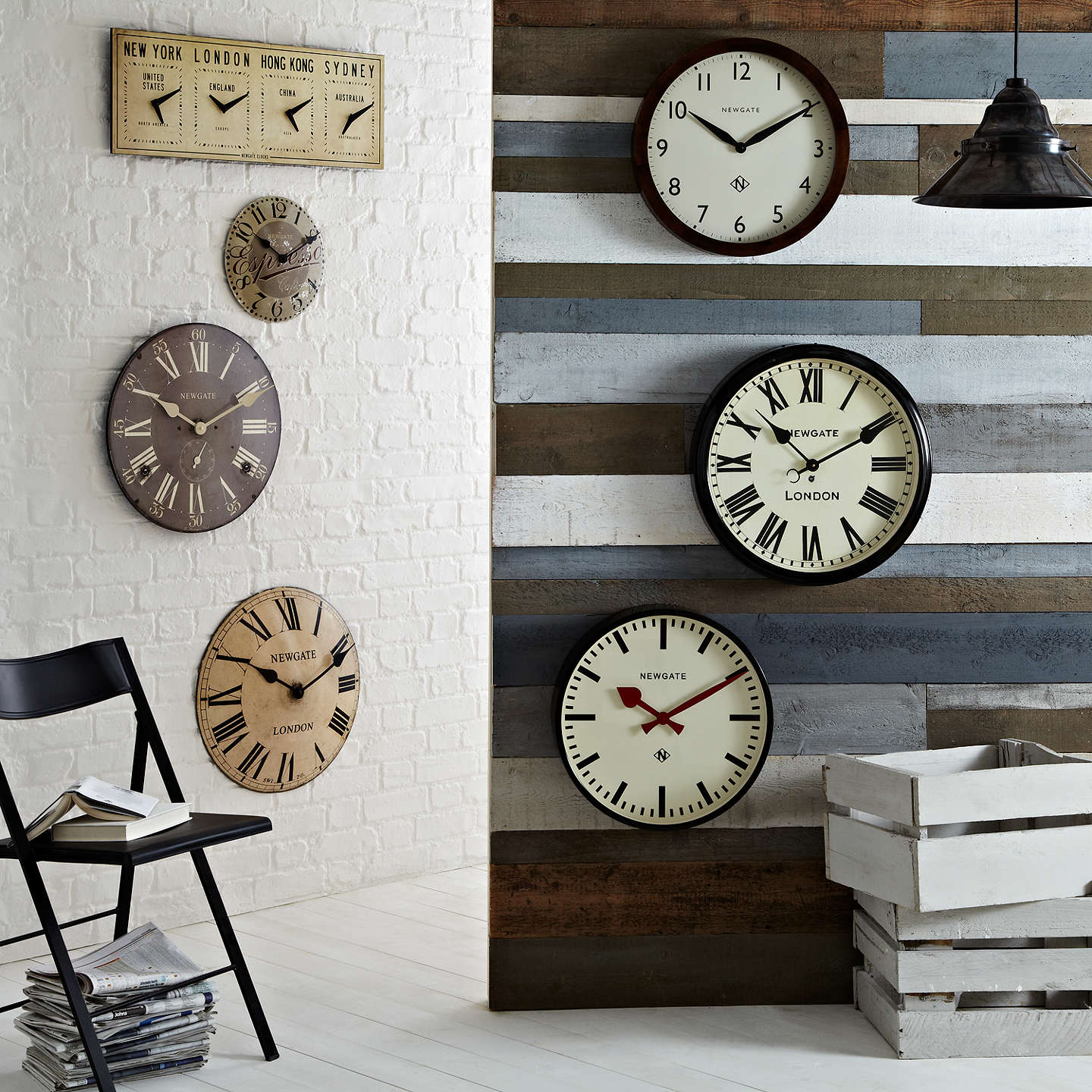 clocks living room newgate wimbledon wooden wall clock dia 45cm brown at 11490