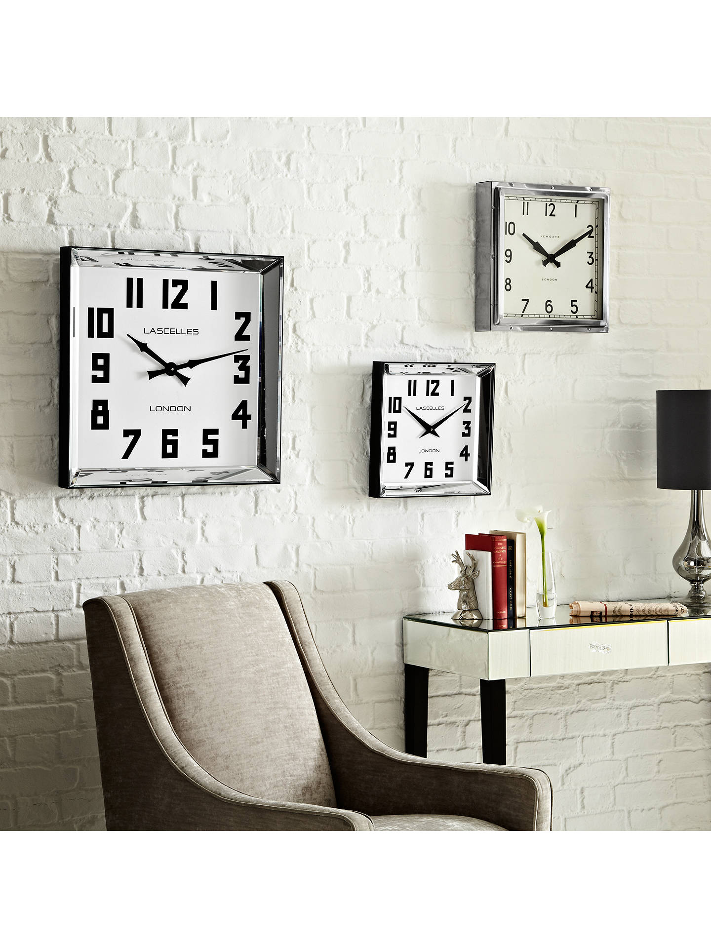 Newgate Quad Wall Clock Dia 40cm Silver Online At Johnlewis
