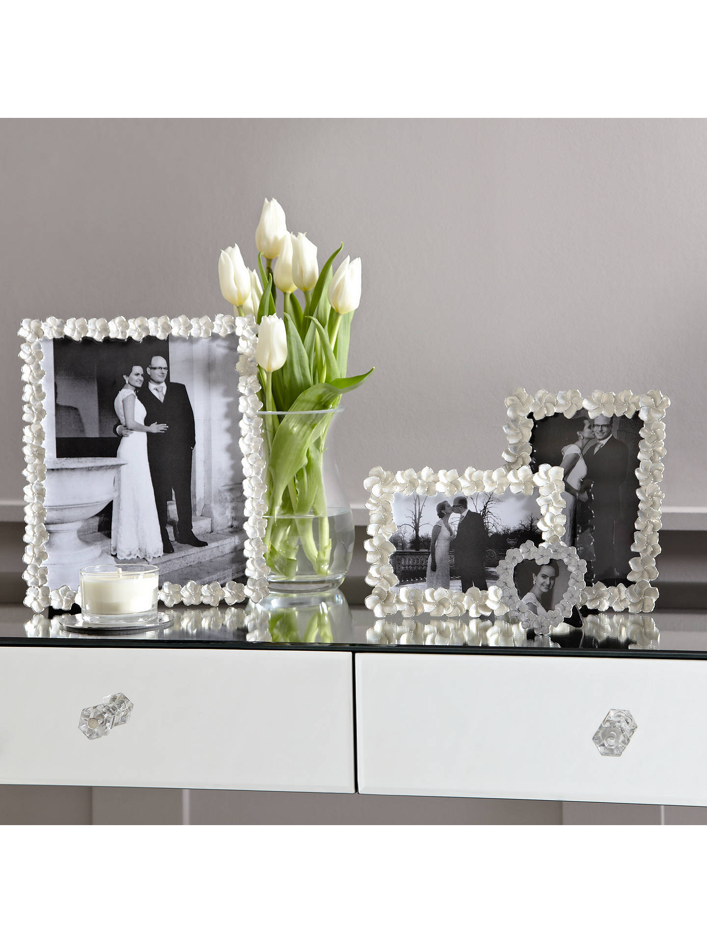 BuyJohn Lewis & Partners Petal Heart Photo Frame, Ivory, 6 x 6cm Online at johnlewis.com