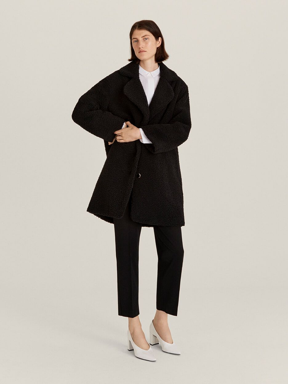 John Lewis & Partners black winter coat