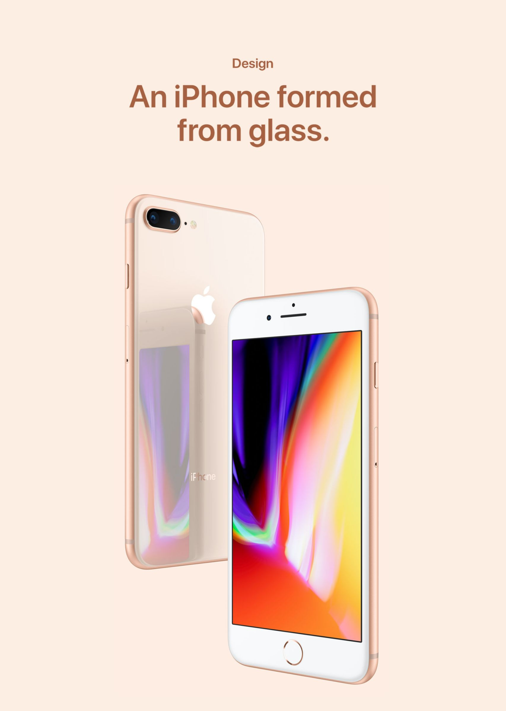 Design - An iPhone formed from glass.