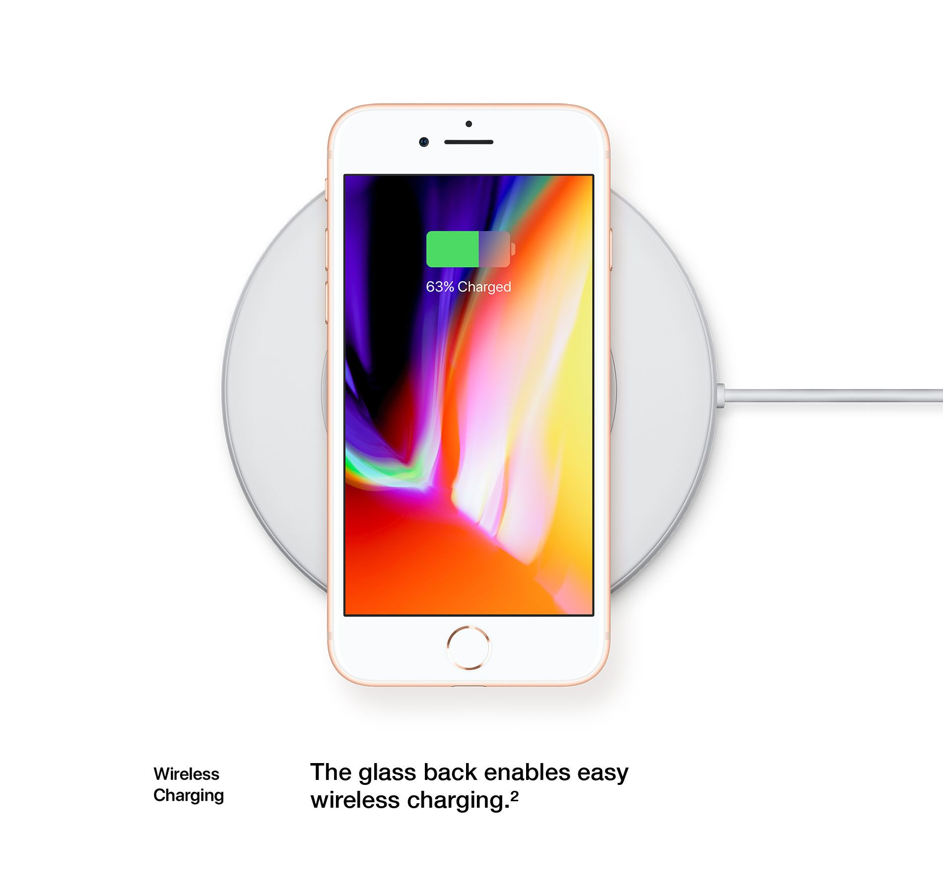 Wireless Charging - The glass back enables easy wireless charging