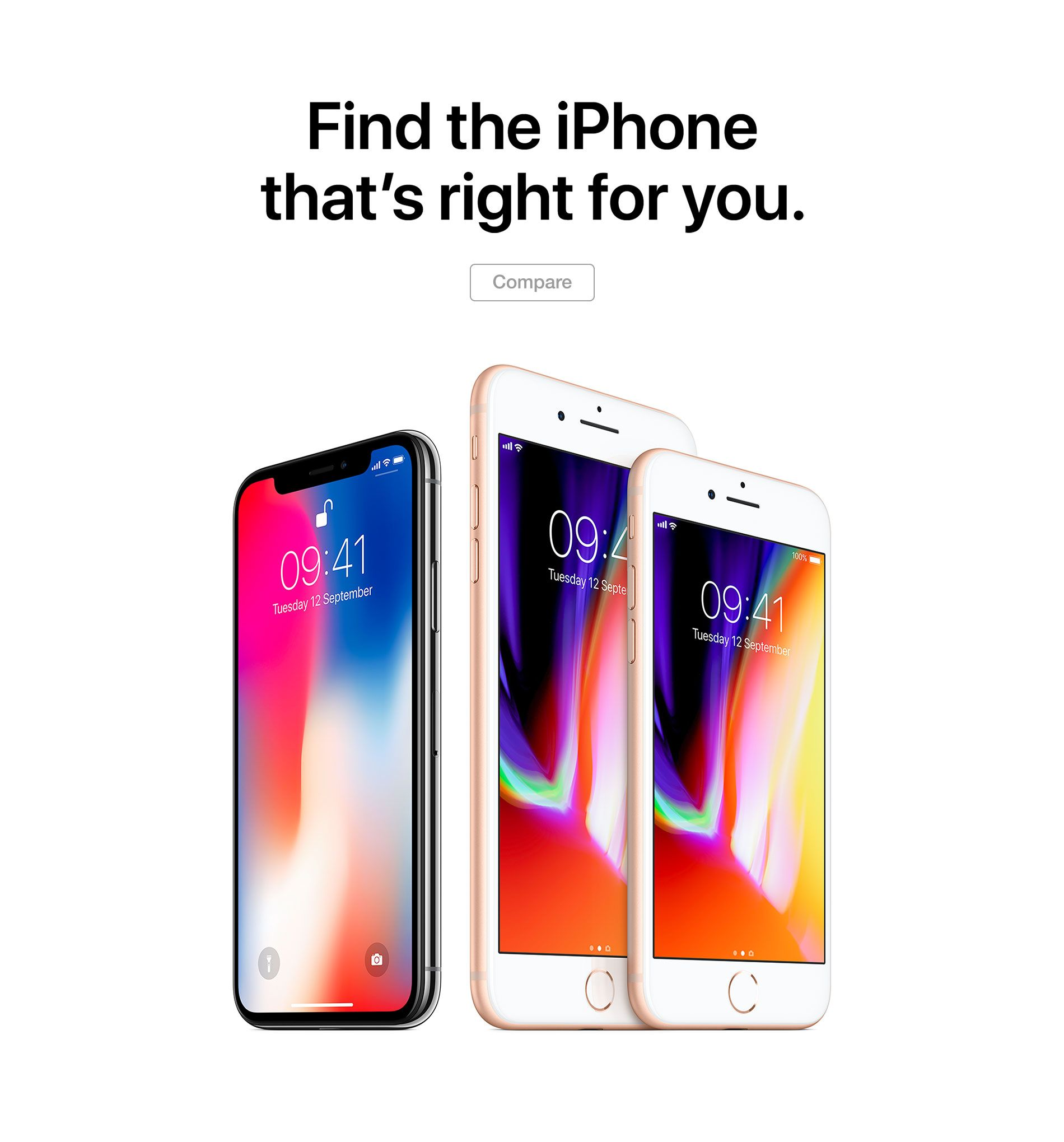 Find the iPhone that's right for you.