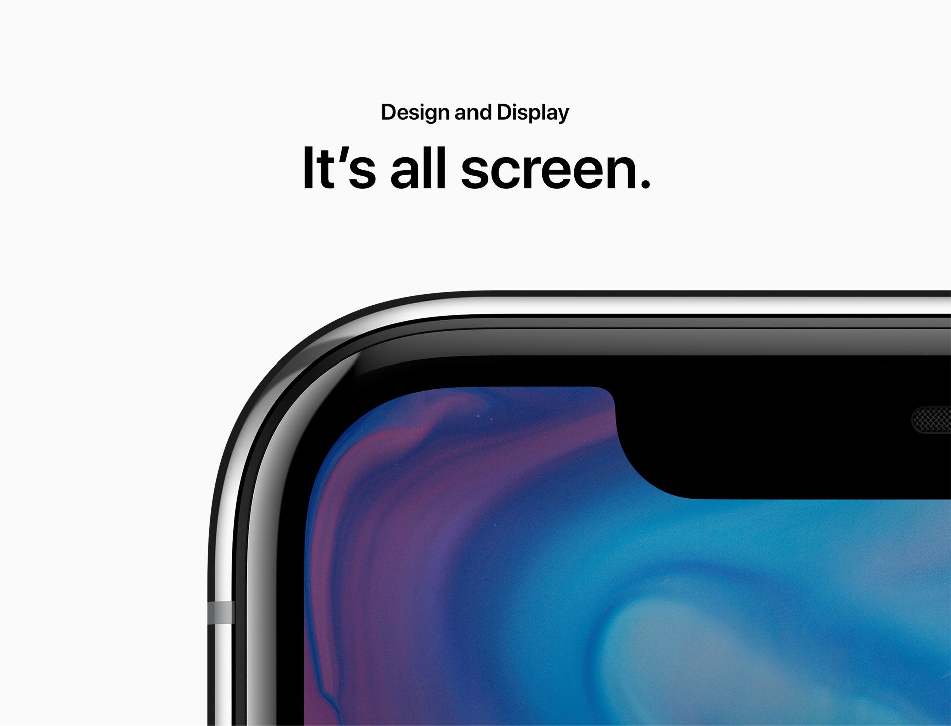 Design and Display - It's all screen.