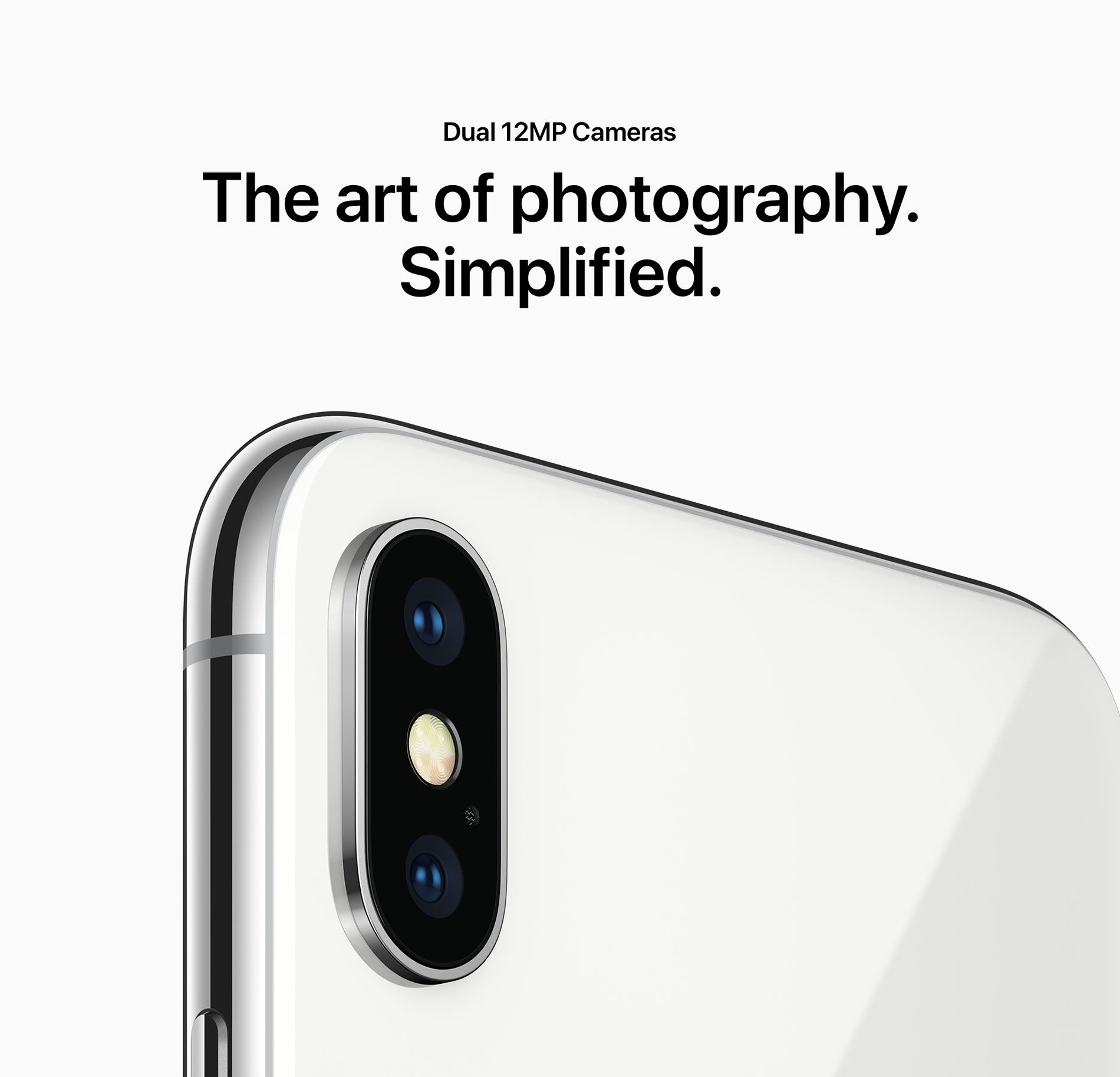 Dual 12MP Cameras - The art of photography. Simplified.