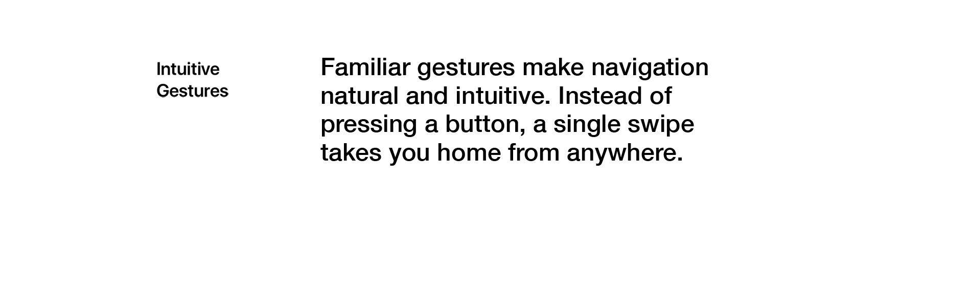 Intuitive Gestures