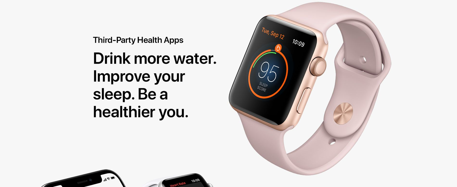 Third-Party Health Apps - Drink more water. Improve your sleep. Be a healthier you.