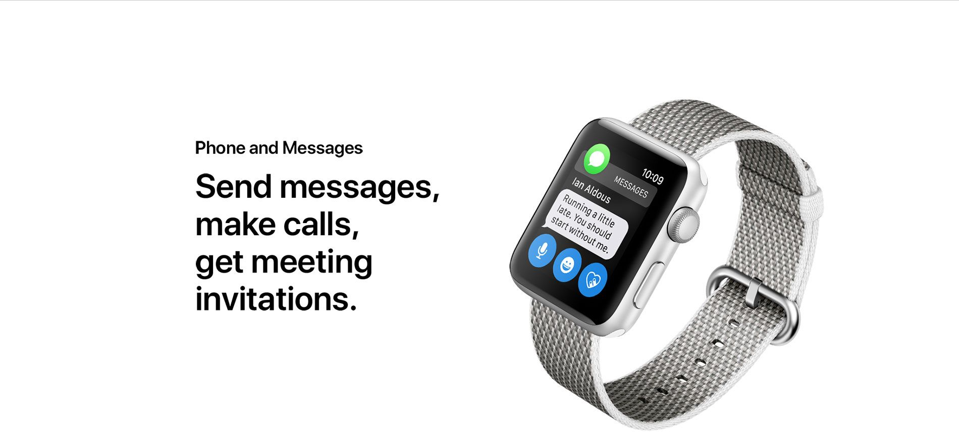 Phone and Messages - Send messages, make calls, get meeting invitations.