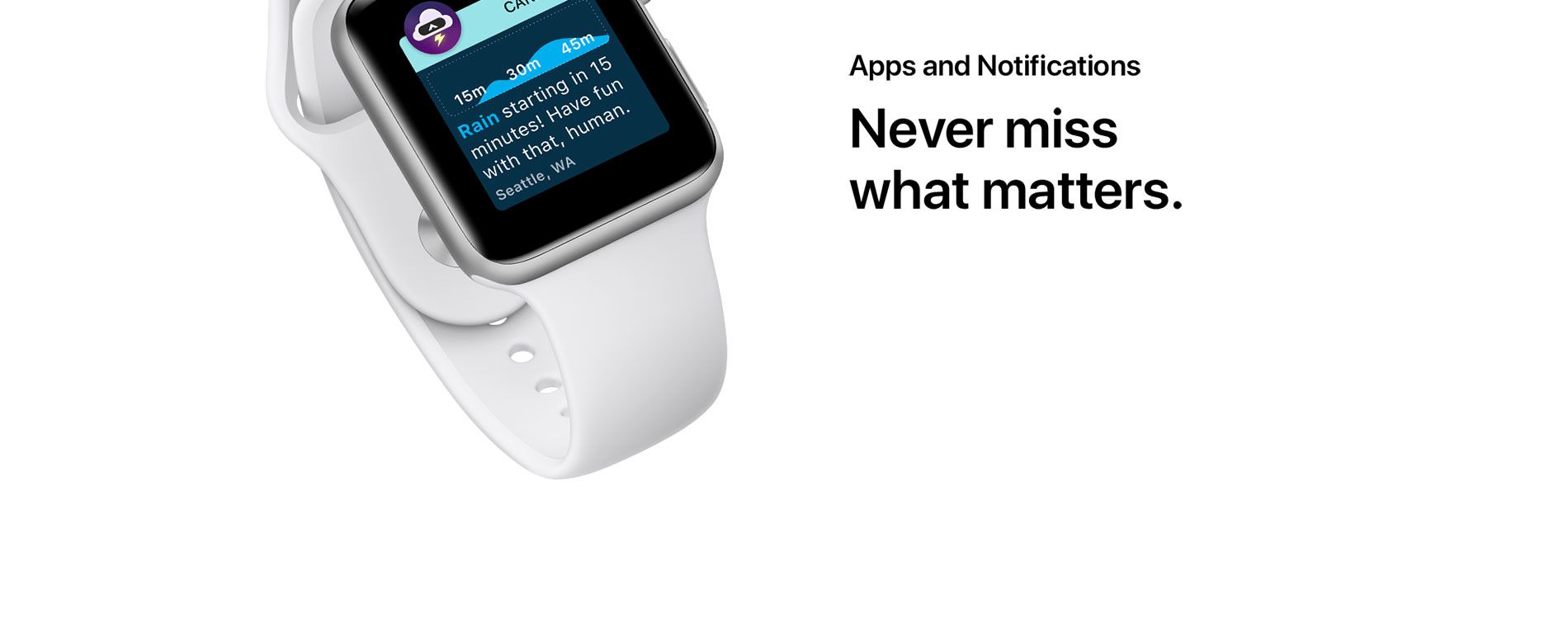 Apps and Notifications - Never miss what matters.