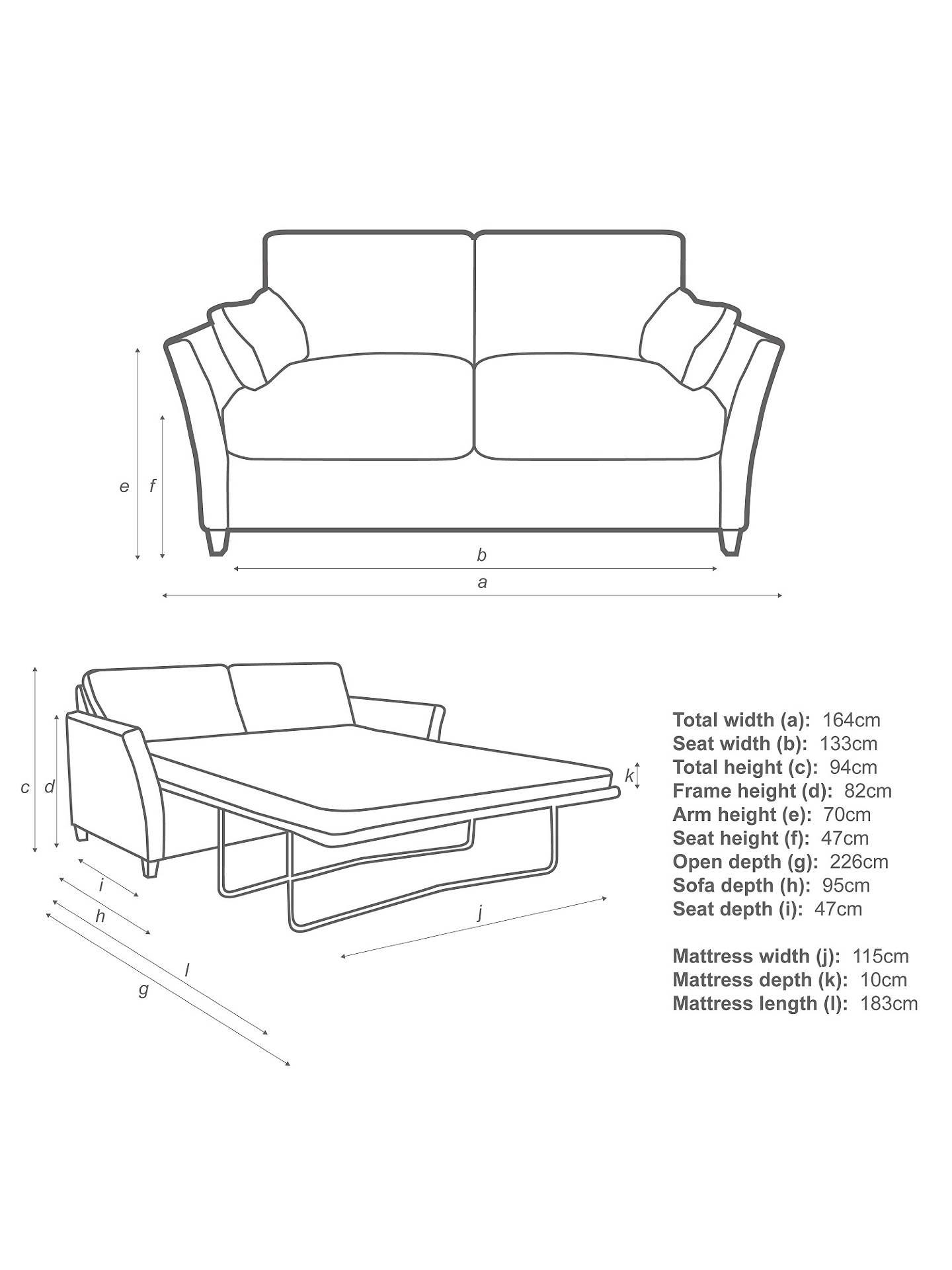 John Lewis Partners Chopin Small Pocket Sprung Sofa Bed Online At Johnlewis