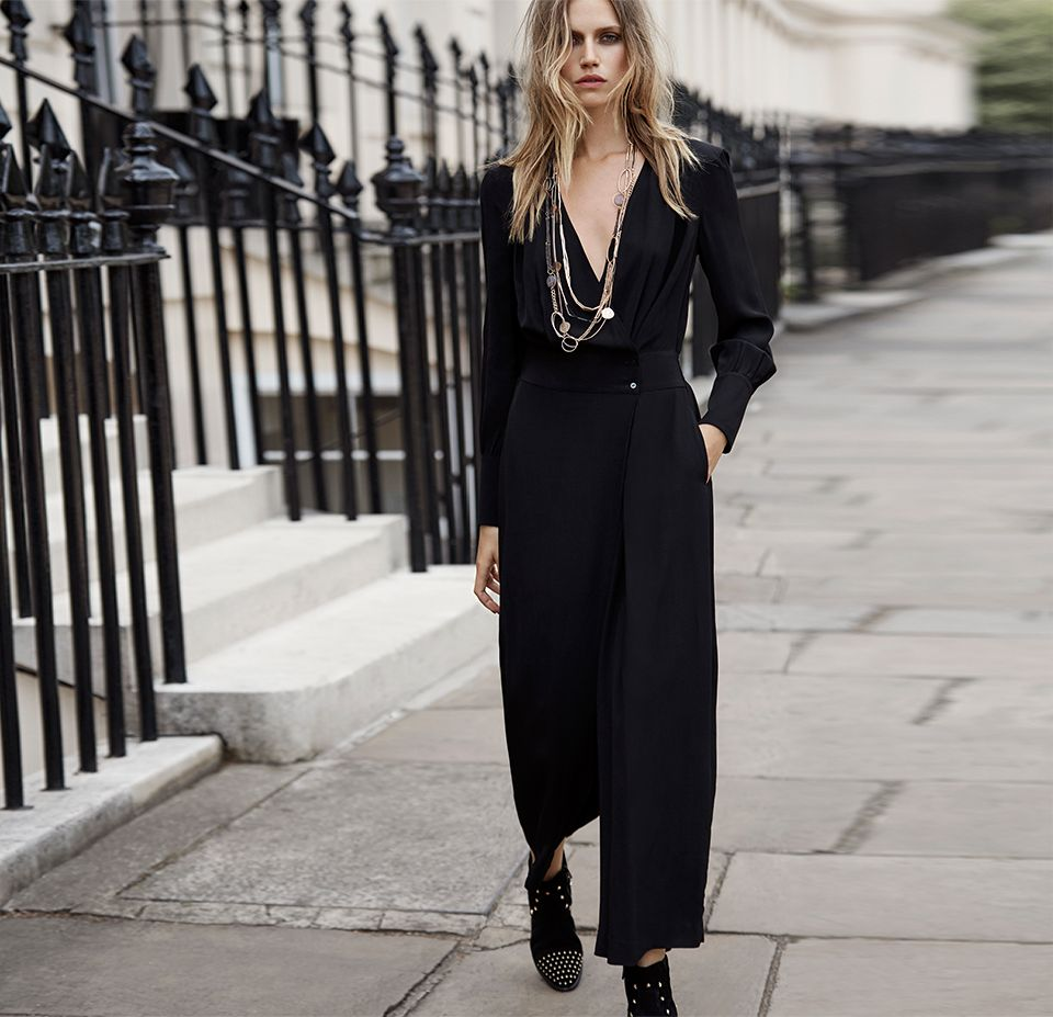 Somerset by Alice Temperley Wrap Jumpsuit & Ankle Boots