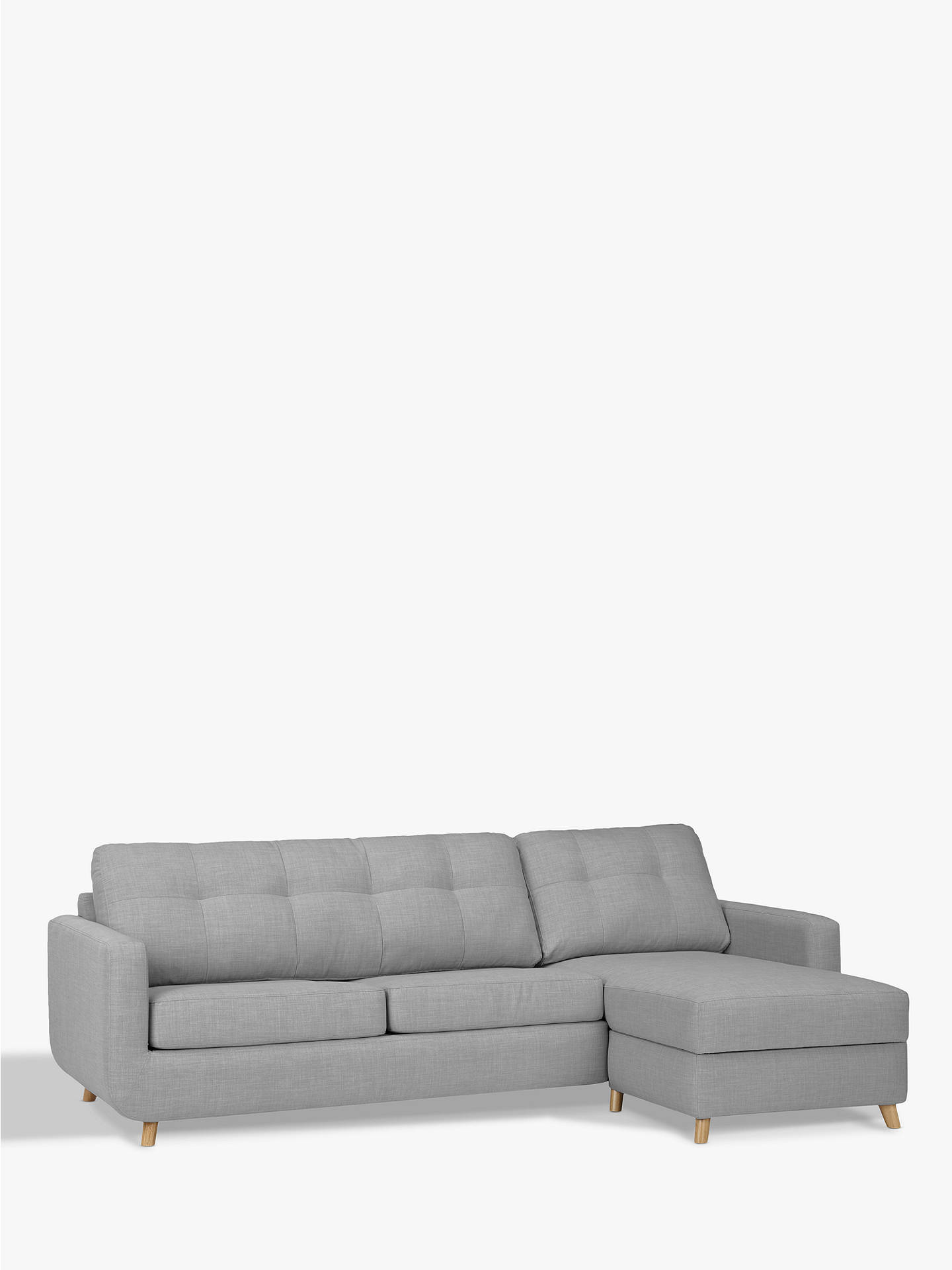 John Lewis Partners Barbican Rhf Chaise Sofa Bed With Storage At