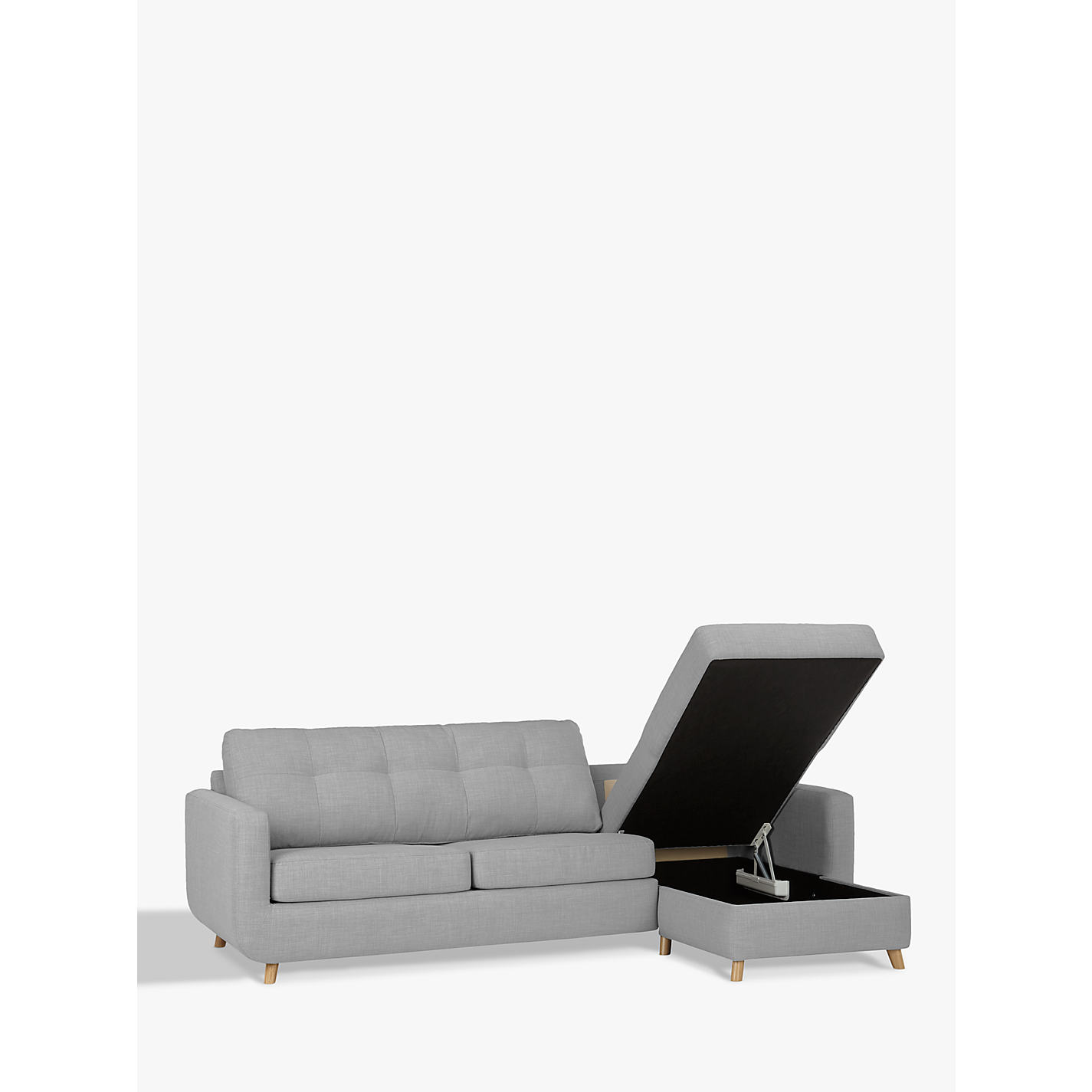 Buy John Lewis Barbican RHF Chaise Sofa Bed with Storage Pocket