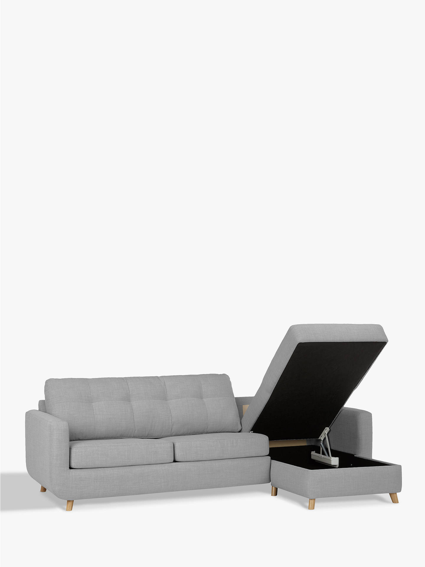 John Lewis & Partners Barbican RHF Chaise Sofa Bed with ...