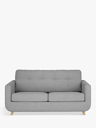 John Lewis & Partners Barbican Medium 2 Seater Sofa Bed, Light Leg, Connie Grey