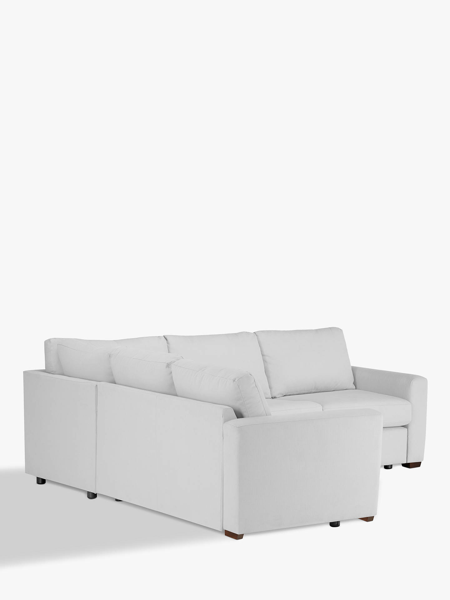 Buy House by John Lewis Oliver Corner Sofa, Light Leg, Aquaclean Matilda Steel Online at johnlewis.com